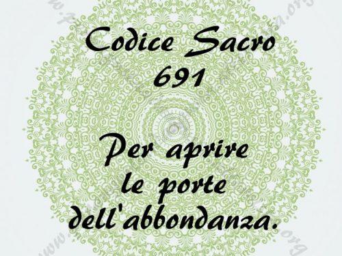 Aprire la strada all'Abbondanza con il codice Sacro 691
