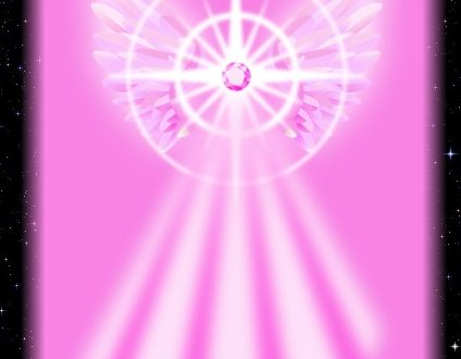 Decreto del raggio rosa per attrarre l'amore divino