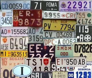 Numerologia: la targa della macchina