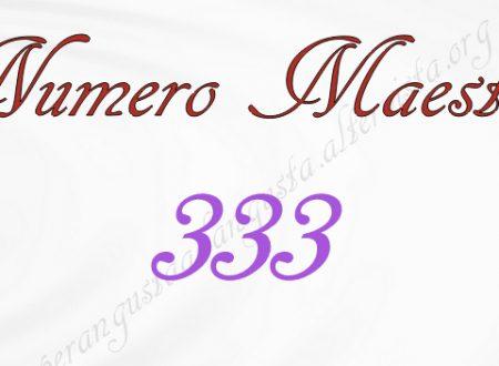 Il Numero maestro 333