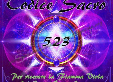 Attivazione del Codice Sacro 523 per ricevere la Fiamma Viola del Conte Saint Germain