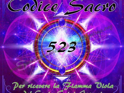 Attivazione del Codice Sacro 523 per ricevere la Fiamma Violetta del Conte Saint Germain