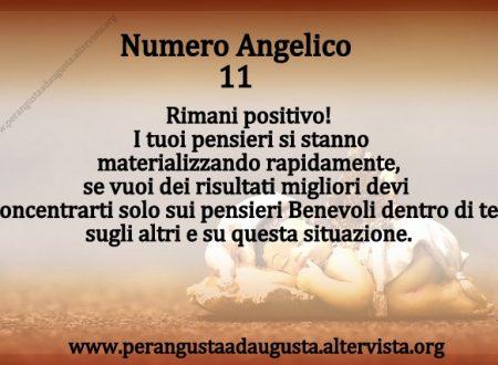 Significato dei Numeri Angelici dal Nr. 11 al Nr. 21