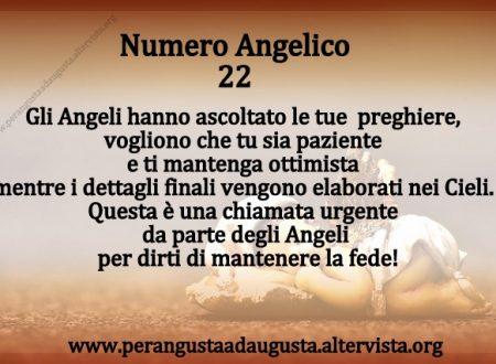 Significato dei Numeri Angelici dal Nr.22 al Nr.31