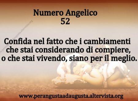 Significato dei Numeri Angelici dal Nr.52 al Nr. 61