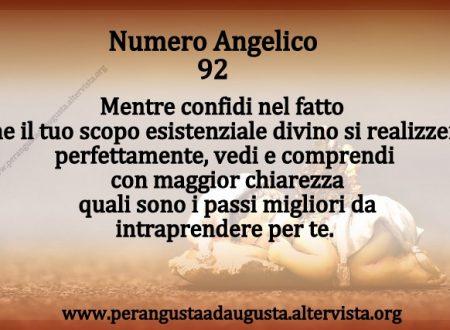 Significato dei Numeri Angelici dal Nr.92 al Nr.101