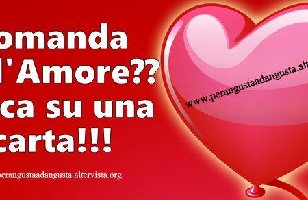 Domanda sull'Amore? Clicca su una carta