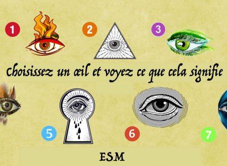 Test: Scegli un occhio e scopri il suo significato